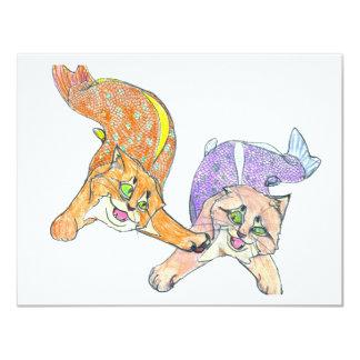 CatFish Kittens - You're It! 11 Cm X 14 Cm Invitation Card