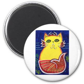 Catfish Kitty 6 Cm Round Magnet