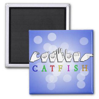 CATFISH NAME SIGN ASL FINGERSPELLED REFRIGERATOR MAGNETS