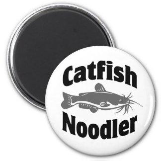 Catfish Noodler 6 Cm Round Magnet