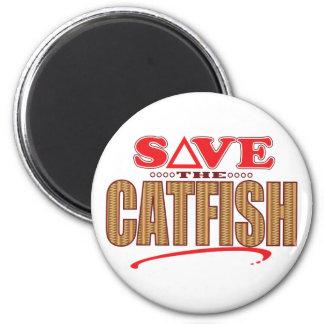 Catfish Save 6 Cm Round Magnet