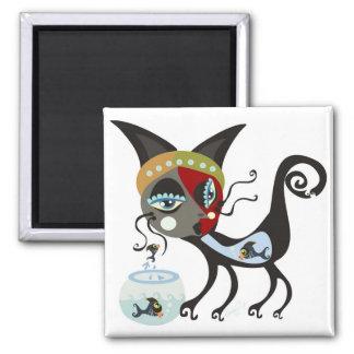 Catfish Square Magnet
