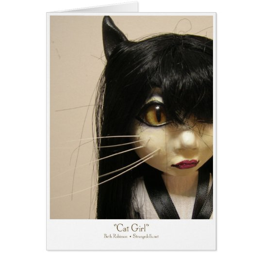 CatGirl Greeting Card