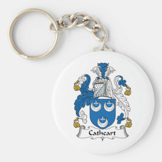 Cathcart Family Crest Basic Round Button Key Ring