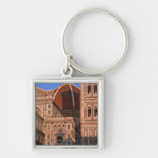Cathedral 4 Silver-Colored square key ring