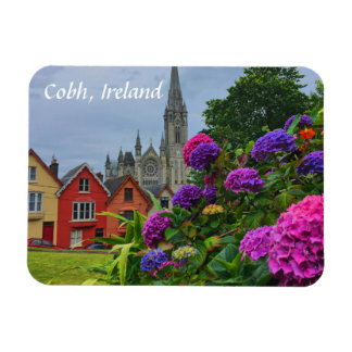 Cathedral and Flowers Cobh Ireland Magnet