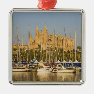 Cathedral and marina, Palma, Mallorca, Spain 2 Christmas Ornament