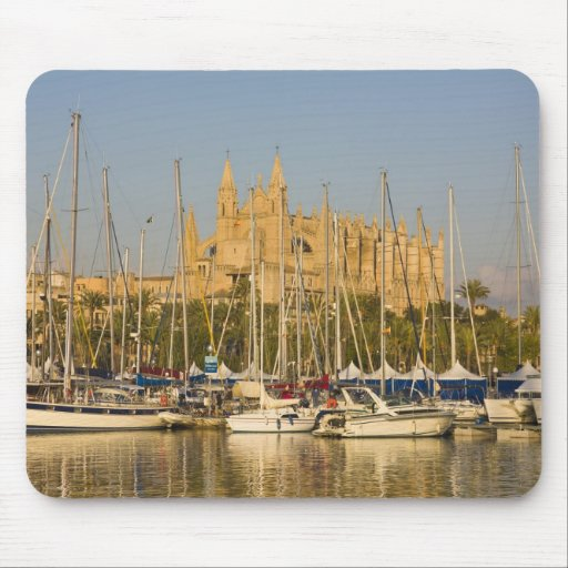 Cathedral and marina, Palma, Mallorca, Spain 2 Mousepad