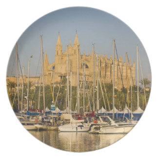 Cathedral and marina, Palma, Mallorca, Spain 2 Plate