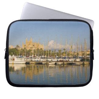 Cathedral and marina, Palma, Mallorca, Spain Laptop Sleeve