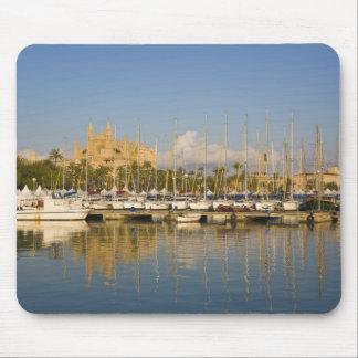Cathedral and marina, Palma, Mallorca, Spain Mousepads