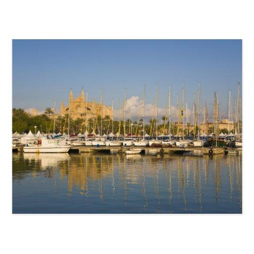 Cathedral and marina, Palma, Mallorca, Spain Postcards