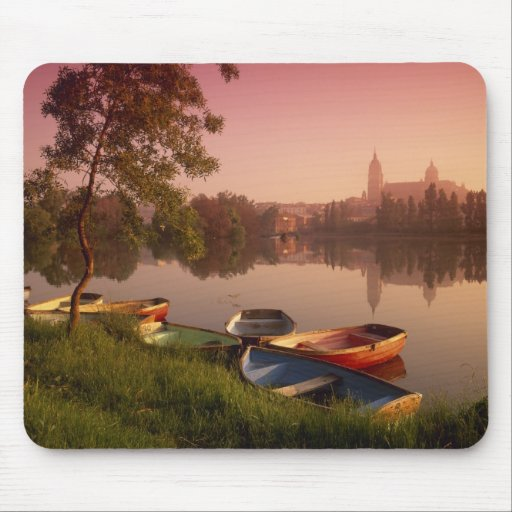 Cathedral and River Tormes, Salamanca, Castile Mouse Pads