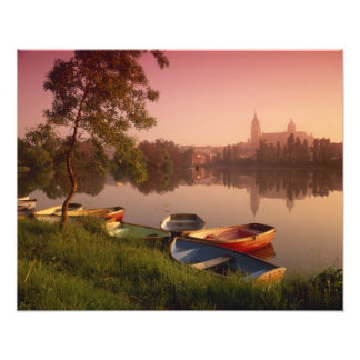 Cathedral and River Tormes, Salamanca, Castile Photographic Print