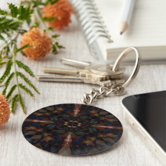 Cathedral Basic Round Button Key Ring