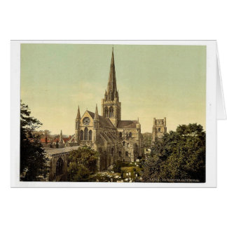 Cathedral, Chichester, England vintage Photochrom Card