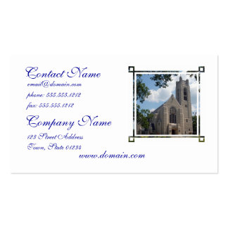 Cathedral Church Business Card Template