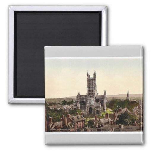 Cathedral from church tower, Gloucester, England r Refrigerator Magnet
