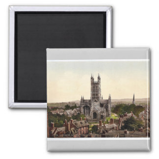 Cathedral from church tower, Gloucester, England r Square Magnet