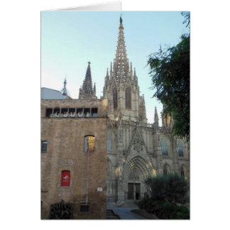 Cathedral in Barcelona Spain Greeting Card
