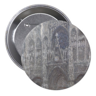 Cathedral in Rouen Portal Grey Weather by Monet 7.5 Cm Round Badge