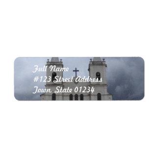 Cathedral Mailing Label Return Address Label