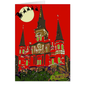 Cathedral Merry Christmas Card