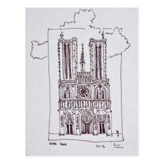 Cathedral Notre-Dame de Paris   Ille de la Cite Postcard