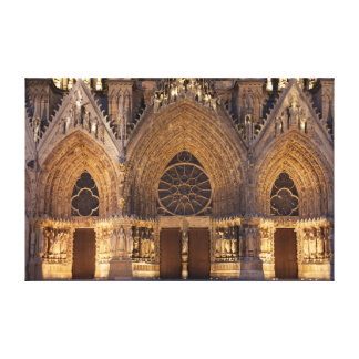 Cathedral of Reims Stretched Canvas Prints
