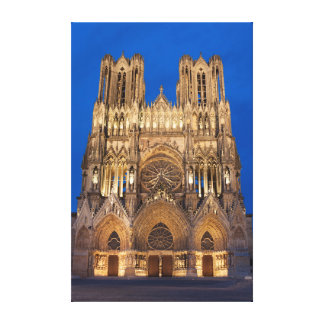Cathedral of Reims Canvas Prints