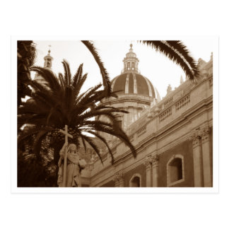 Cathedral of Saint Agata in Catania, Sicily, Italy Postcard