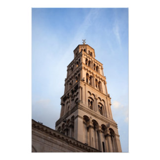Cathedral of Saint Domnius Bell Tower in Split Photo Print