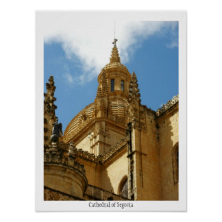 Cathedral of Segovia Poster