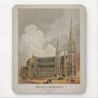 Cathedral of the Holy Cross Boston Mass. 1871 Mousepads