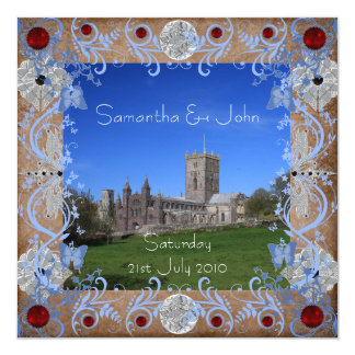 Cathedral Photoframe Invitation Card