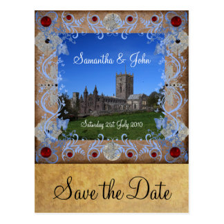 Cathedral Photoframe Save the Date Postcard