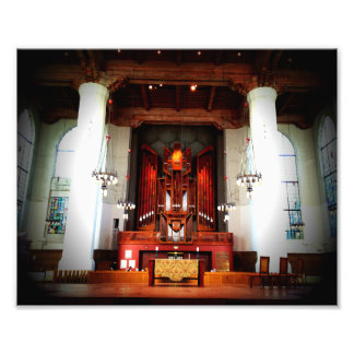 Cathedral Pillars and Organ Pipes Photograph