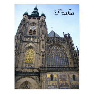 cathedral praha postcard