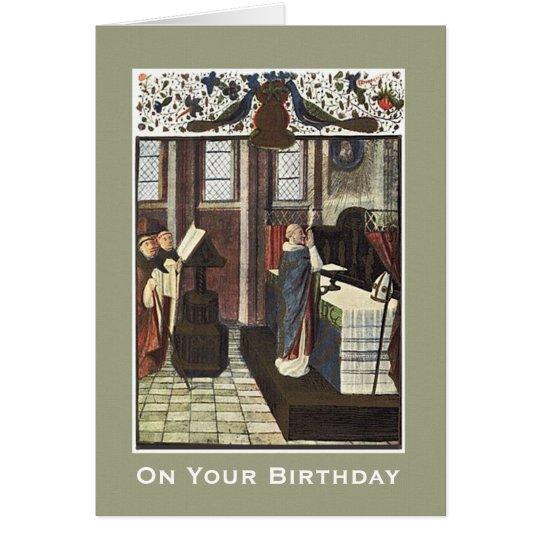 Cathedral Priest Altar Birthday Celebration Card