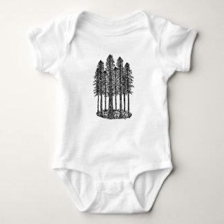Cathedral Ring (Coastal Redwoods Sketch) Baby Bodysuit