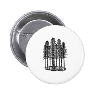 Cathedral Ring (Coastal Redwoods Sketch) 6 Cm Round Badge