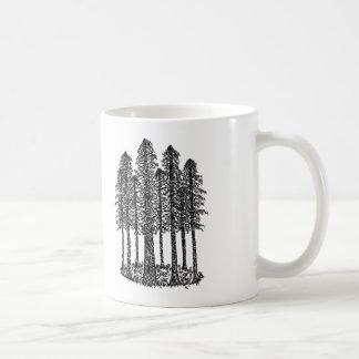Cathedral Ring (Coastal Redwoods Sketch) Basic White Mug