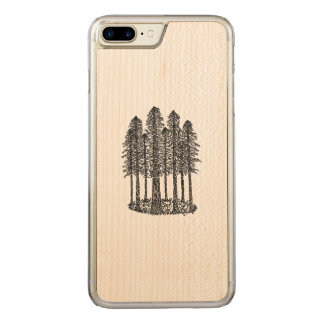 Cathedral Ring (Coastal Redwoods Sketch) Carved iPhone 7 Plus Case
