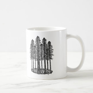 Cathedral Ring (Coastal Redwoods Sketch) Coffee Mug