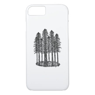 Cathedral Ring (Coastal Redwoods Sketch) iPhone 7 Case