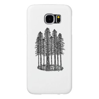 Cathedral Ring (Coastal Redwoods Sketch) Samsung Galaxy S6 Cases