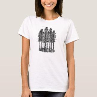 Cathedral Ring (Coastal Redwoods Sketch) T-Shirt