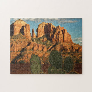 Cathedral Rock at Sunset from Secret Canyon Jigsaw Puzzle