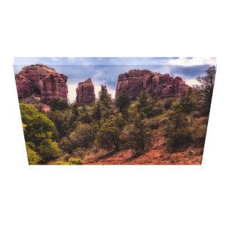 Cathedral Rock Landscape Portrait Canvas Print