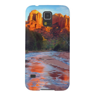 Cathedral Rock reflecting in Oak Creek at Sunset Case For Galaxy S5